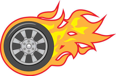 flaming: Racing gets me all fired up.   Illustration