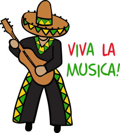 This mariachi man likes to play for you while you enjoy your Mexican food. Фото со стока - 45244773