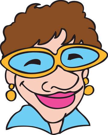 해학적 인: Have a fun day every time you look at this humorous lady.