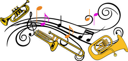 cornet: You entrust your childs music education to their teacher each day.  This design is perfect for thanking them! They will love it! Perfect for a teacher or tutor. Illustration