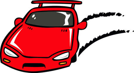 red sports car: Fast and furious with this red sports car.  A perfect design for the next race.    Illustration