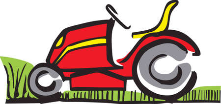 Show your pride for your mowing business.  Its the perfect advertisement.  Everyone will love them! Ilustração