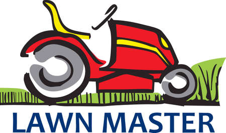 Show your pride for your mowing business.  Its the perfect advertisement.  Everyone will love them! Ilustracja