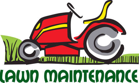push mower: Show your pride for your mowing business.  Its the perfect advertisement.  Everyone will love them! Illustration