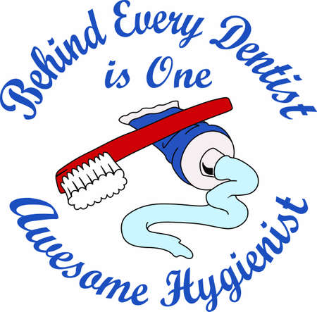 hygienist: Always have a toothbrush handy for any occasion. Illustration