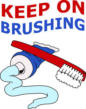 Always have a toothbrush handy for any occasion. Ilustrace
