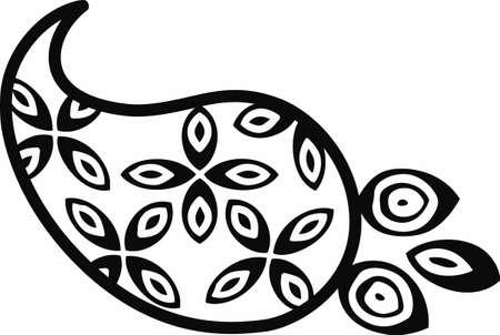 Use a paisley to accent any project. Ilustração