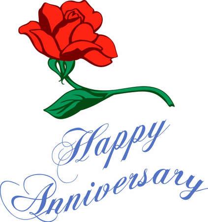バラは、記念日のための素晴らしい贈り物です。あなたの記念日を祝う  イラスト・ベクター素材