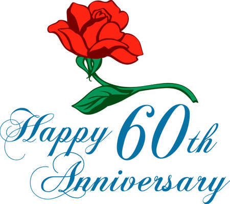 A rose is a great gift for an anniversary. Celebrate your Diamond Jubilee with this design