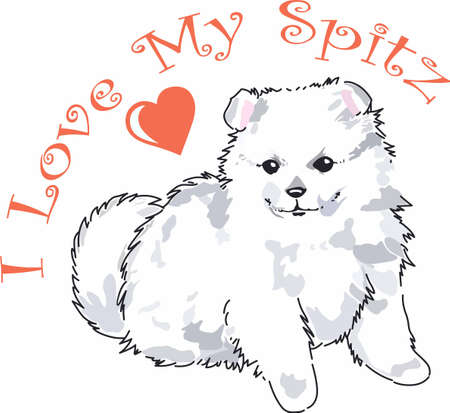 spitz: Have a cute spitz with you whereever you go with this litte dog. Illustration