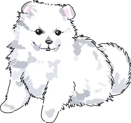 Have a cute spitz with you whereever you go with this litte dog.