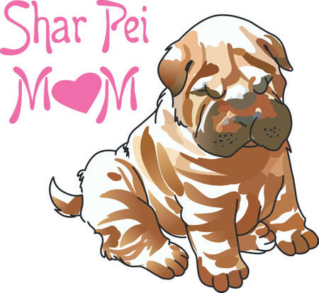 pure bred: Have a cute shar pei with you whereever you go with this litte dog.