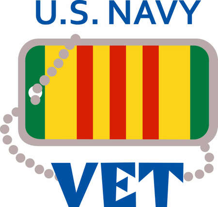 Let them know you are proud of your Navy Vet hero.  Show support for our troops with this special design. Illustration