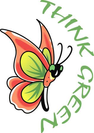 この美しい蝶が春デザインに最適です。