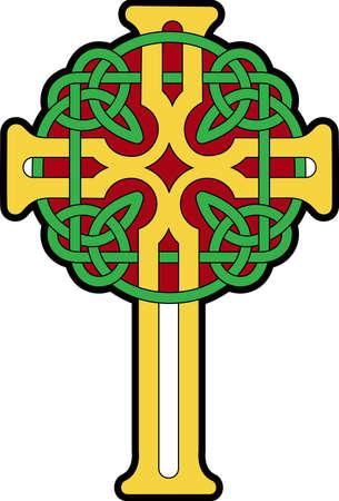 croce celtica: Questa croce celtica � un disegno perfetto per le vostre feste di giorno di San Patrizio.