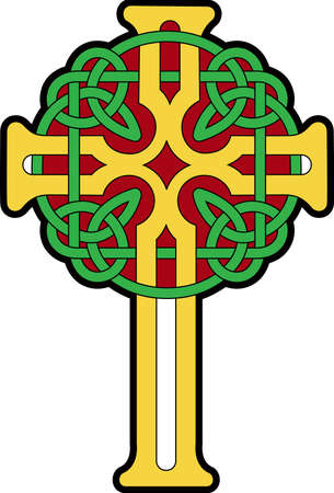 celtic symbol: This Celtic cross is a perfect design for your St. Patrick day festivities.