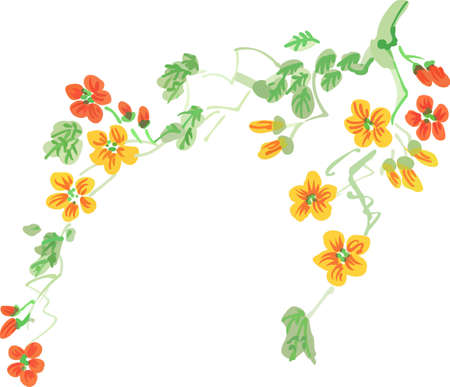 These beautiful design of a flowering branch is perfect to add to your design.