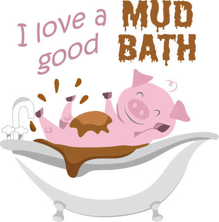 A good mud bath is just what a funny pig needs