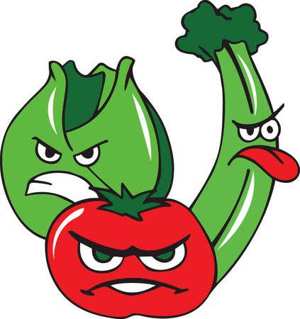 Levensverwachting zou groeien met sprongen als groene groenten rook zo goed als spek. Stock Illustratie