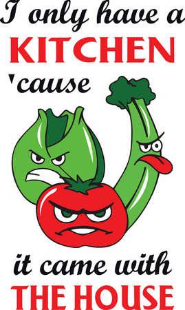 Die Lebenserwartung würde sprunghaft wachsen, wenn grünes Gemüse roch so gut, wie Speck. Vektorgrafik