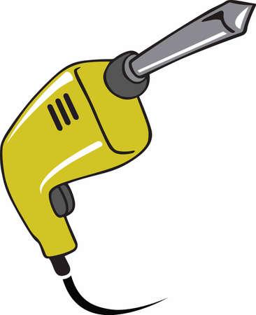 A handyman will enjoy a power tool on a work shirt.