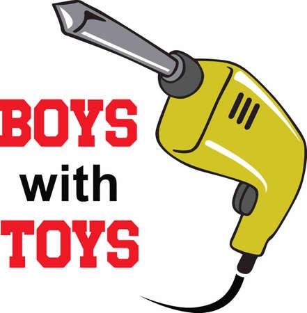 power tool: A handyman will enjoy a power tool on a work shirt.