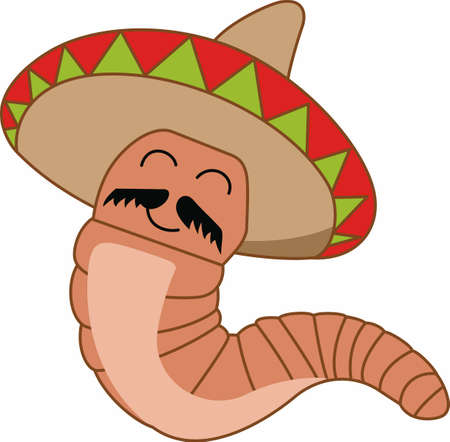 humorous: Have a humorous worm to accent the spirit of tequila.