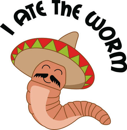 Have a humorous worm to accent the spirit of tequila.