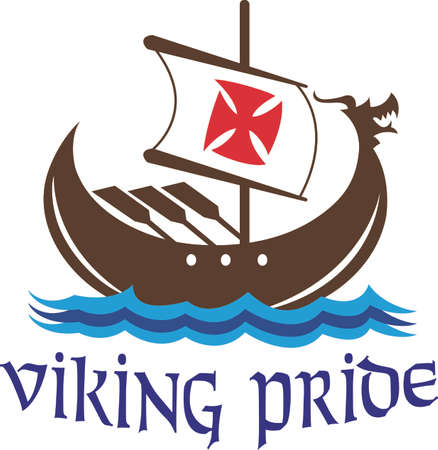european culture: A Viking can never be conquered.  The victory is mine!  A perfect design for the next game   Illustration