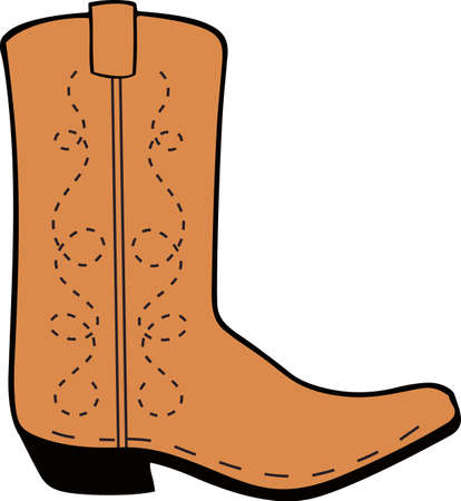 riding boot: Yee haw!  This is a cute design for your cowboy.  He will love it! Illustration