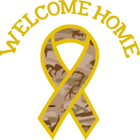 Support the military with a patriotic ribbon.