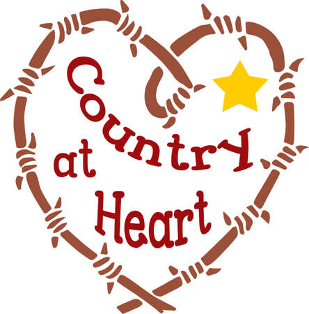 country: Show off your love for all things country western. Illustration