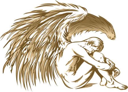 Iedere keer dat een bel en engel krijgt hun vleugels. Stock Illustratie