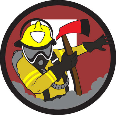 it professional: Firemen are proud of their profession and can show it with a professional patch.