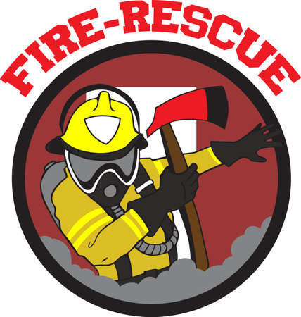 rescue circle: Firemen are proud of their profession and can show it with a professional patch.