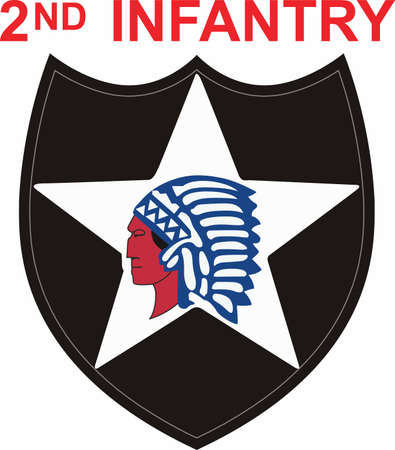 infantry: Soldierss can show their pride with an infantry symbol. Illustration