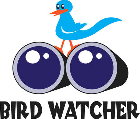 A bird watcher loves to watch birds everywhere they go.   This design is a perfect gift for the birder you know.