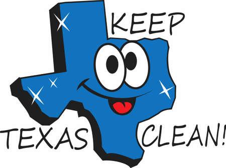 生まれ、テキサス州で育ち、それをきれいに保ち、散らかさないように。  楽しい偉大な概念から笑顔をもたらすことを確認されデザイン!