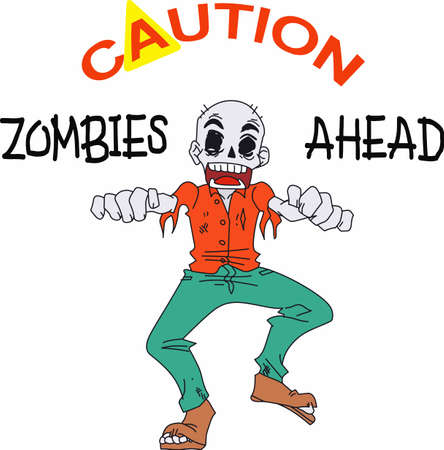 decoraton: Have a fun zombie for a halloween decoraton.