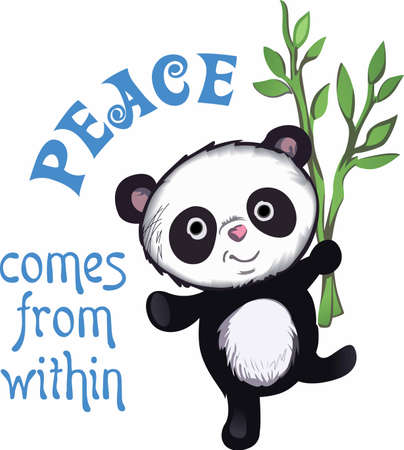seek: Peace comes from within, do not seek it without this adorable panda.  A cute design from Great Notions!