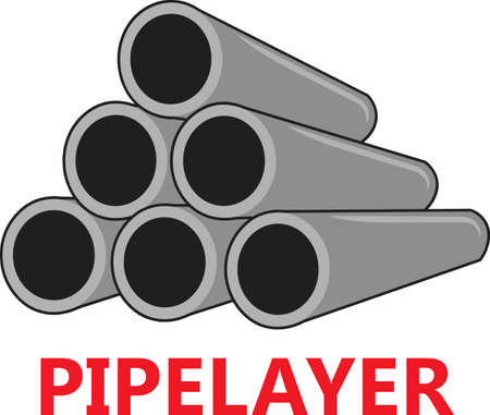 This pipelayer image is sure to become a favorite in the field. A great design from Great Notions! Ilustração