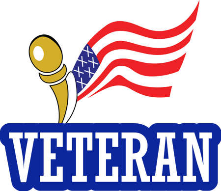 show off: Show off your pride for a veterans service. Illustration