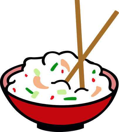 Make a great bowl of food for an Asian theme project.