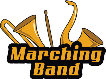 Make a marching band project with these instruments.