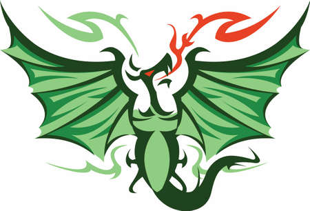 fantasy dragon: A fantasy dragon can accent any project.