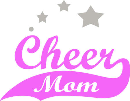 child's: A cheerleaders mother will like to show support for their childs activities.