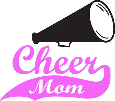A cheerleader's mother will like to show support for their child's activities. Stock Illustratie