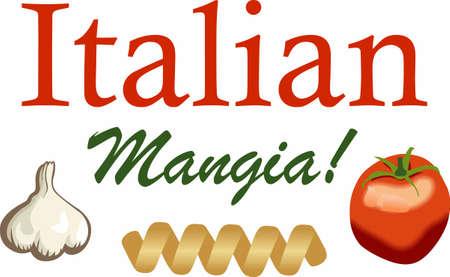 De smaak van Italië en prachtige chef-koks maken van hun speciale geheime pasta recept. Perfecte gift voor het volgende etentje. Geniet van dit ontwerp van Great Notions!