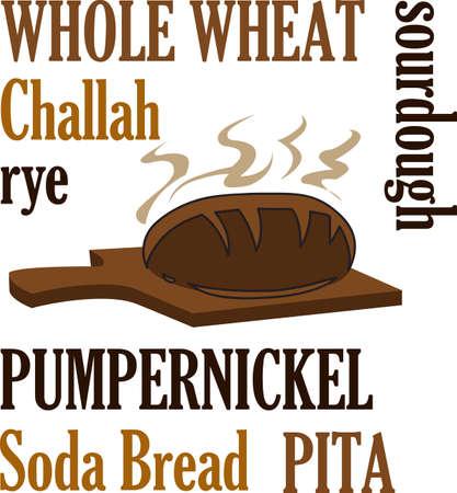 따끈 따끈한 빵으로 주방 수건을 장식하십시오. 스톡 콘텐츠 - 45281568