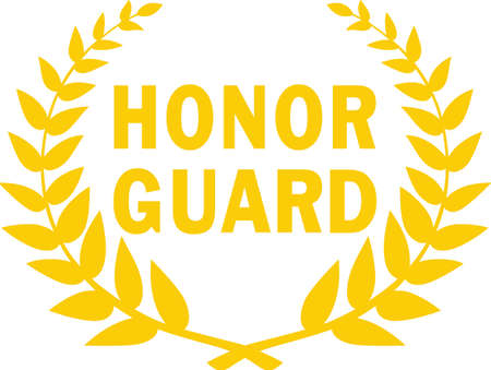 Make a wonderful memorial project with this honor guard icon. Ilustração